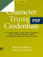 Character Trumps Credentials eBook