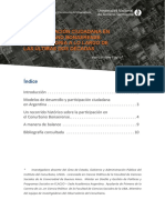 La Participación Ciudadana en El Conurbano Bonaersense