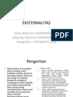 EKONOMI PUBLIK EKSTERNALITAS