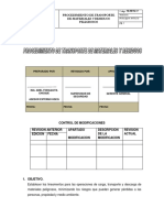Proc de Transp de Materiales y Residuos Peligrosos