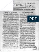 'Con El Pueblo Órgano Del Cuerpo de Oficiales y Suboficiales Revolucionarios de Madrid' - Año I Número 1 (01 01 1935)