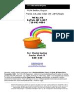 2018 March Newsletter for PFLAG Buffalo/Niagara