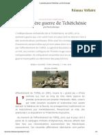 La première guerre de Tchétchénie , par Paul Labarique