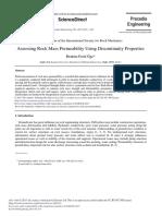 Assessing Rock Mass Permeability Using Discontinuity Properties