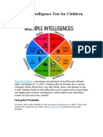 Multiple Intelligences Worksheet