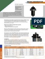 MFC - Microseparator Fuel Coalescer