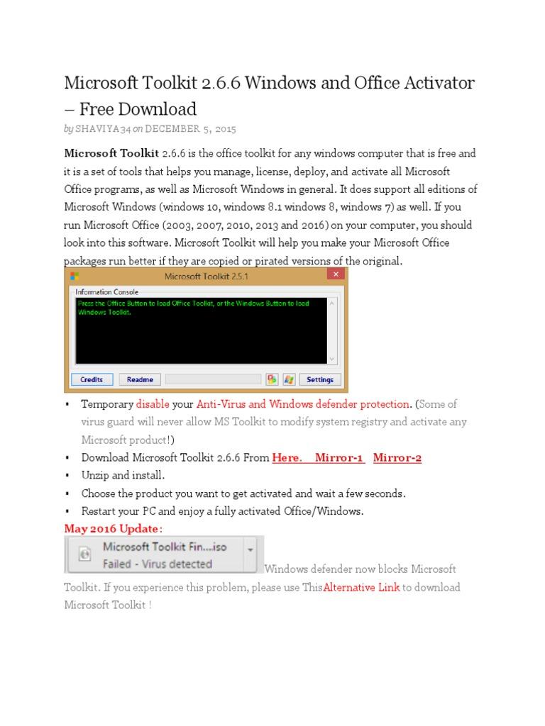 Microsoft toolkit 2 6 2 download