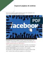 Facebook Bloqueará Páginas de Noticias Falsas