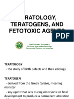 Teratology, Teratogens, And Fetotoxic Agents