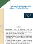 Chapter-10 Return & Risk