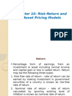 Chapter-10 Return & Risk
