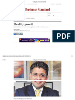 Healthy Growth _ Business Standard News