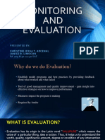 PA 205 Monitoring & Evaluation