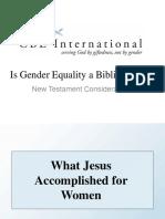 Is Gender Equality a Biblical Ideal-NT Concerns