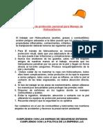 5¨-EPP para el manejo de hidrocarburos