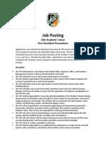 Job Posting VPP 2018 19