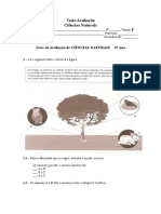 37962779 Teste de Avaliacao de Ciencias Naturais 8º Ano (1)