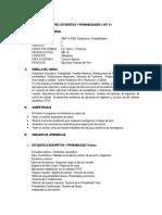 Silabo de Estadistica y Probabilidades 2017 II
