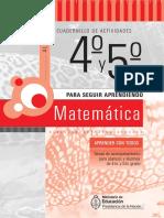 Para Seguir Aprendiendo 4 y 5 MatematicaD Clase3