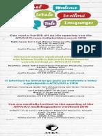 ATKV UJ Multilingualism Weekend 2018