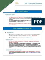 Info Faculté des Sciences