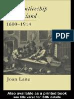 Apprenticeship in England, 1600-1914 (1996)