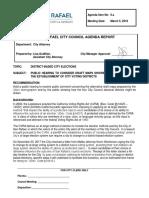 San Rafael district election proposals