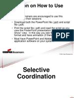 Pres11 - Selective Coordination 2-02