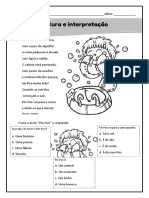 Leitura e Interpretação Instrução o Que as Crianças Estão Fazendo Frases