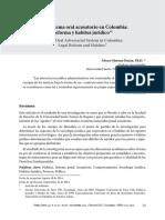 El Sistema Oral Acusatorio en Colombia Reforma y Habitus Juridico