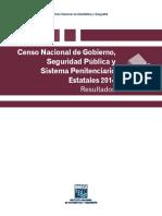 Censo Nacional Sistema Penitenciario 2014 Inegi