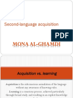 Second Language Acquisition a Seminar for EFL