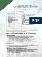 Ag 0805 Taller de Negociaciones y Habilidades Gerenciales