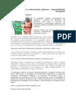 Prontuário Médico e Informações Sigilosas