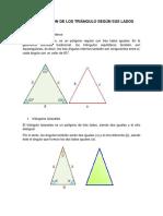 Clasificación de Los Triángulo Según Sus Lados