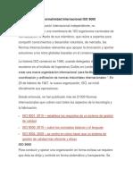 normativa internacional  ISO 9000