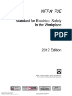 NFPA 70E 2012 - General Categories of Electrical Hazard