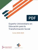 Experto Universitario en Educación Para La Tranformación Social