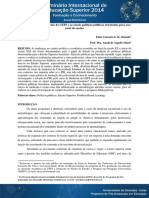 O PBL No Curso de Medicina Da UEFS e as Atuais Políticas Públicas Orientadas Para Esse Nível de Ensino - Elisa Almeida e Amali Mussi