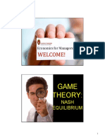 Game Theory NASH EQUIL and Sequential Games STUDENT VERSION