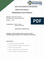 Informe de Proyecto de Teoría de Control II