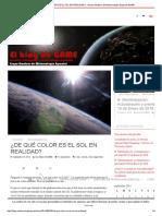 ¿de Qué Color Es El Sol en Realidad_ - Grupo Amateur de Meteorología Espacial Game