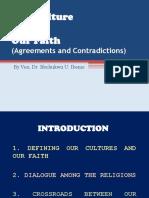 Our Culture versus Our Faith