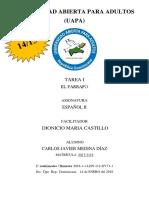 Tarea I- Español II
