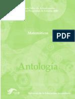 Antologia de Matematicas Manual Para Profesores de Secundaria