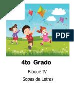4to Grado - Bloque 4 - Sopa de Letras