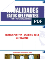 Atualidades. Reestropectiva Janeiro 2018.