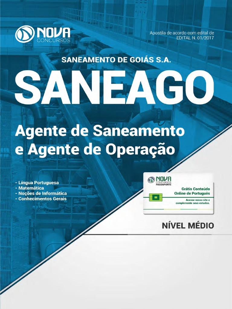 Apostila SANEAGO - Agente de Saneamento e Agente de Operação (2017) 75df4f876af08