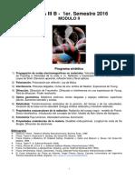 Guia Trabajos Practicos MODULO II- Incluye Cronograma- 1er Sem 2016 - FISICA III B