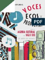 voces ecos y propuestas para la agenda cultural del siglo xxi, autor carlos lara g